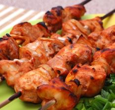 Chicken shashlik in tomato juice